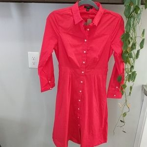 J. Crew Dress Long Sleeve Button Front NWT